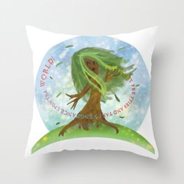 Windy Willow Throw Pillow