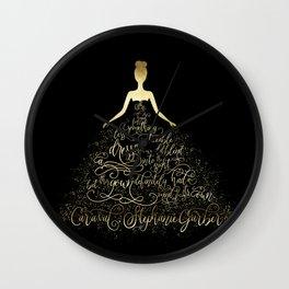 Scarlett's Enchanted Dress. Caraval Wall Clock