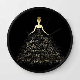 Scarlett's Enchanted Dress. Caraval Wall Clock