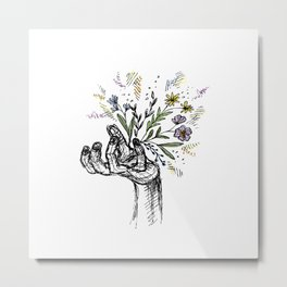 Flower-power Metal Print