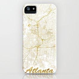 Atlanta Map Gold iPhone Case