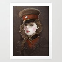 captain Art Prints featuring Captain by shugmonkey