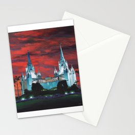 San Diego LDS Temple at Dusk Stationery Cards