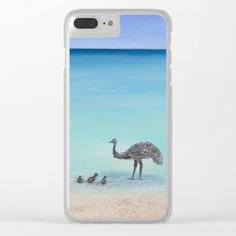 Surfin' Bird Clear iPhone Case