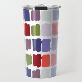 Artistic colorful watercolor paint brushstrokes palette Travel Mug