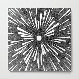 Center Spiral Metal Print