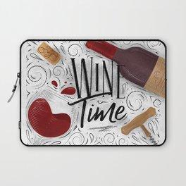 Wine time white Laptop Sleeve