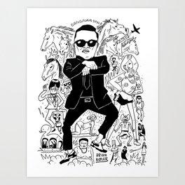 Gangnam Style Art Print