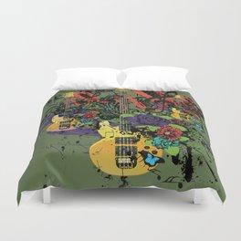 Grunge Guitar Illustration Duvet Cover