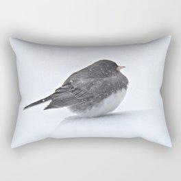 Brave Bird in a Blizzard Rectangular Pillow