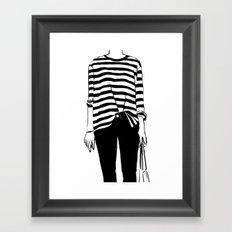 Tucked Framed Art Print