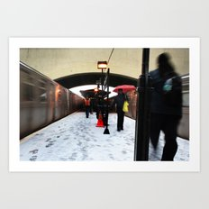 here we snow  Art Print