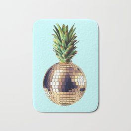 Ananas party (pineapple) blue version Bath Mat