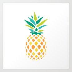 Summer Pineapple Art Print