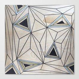 Geometric Study on Wood Canvas Print