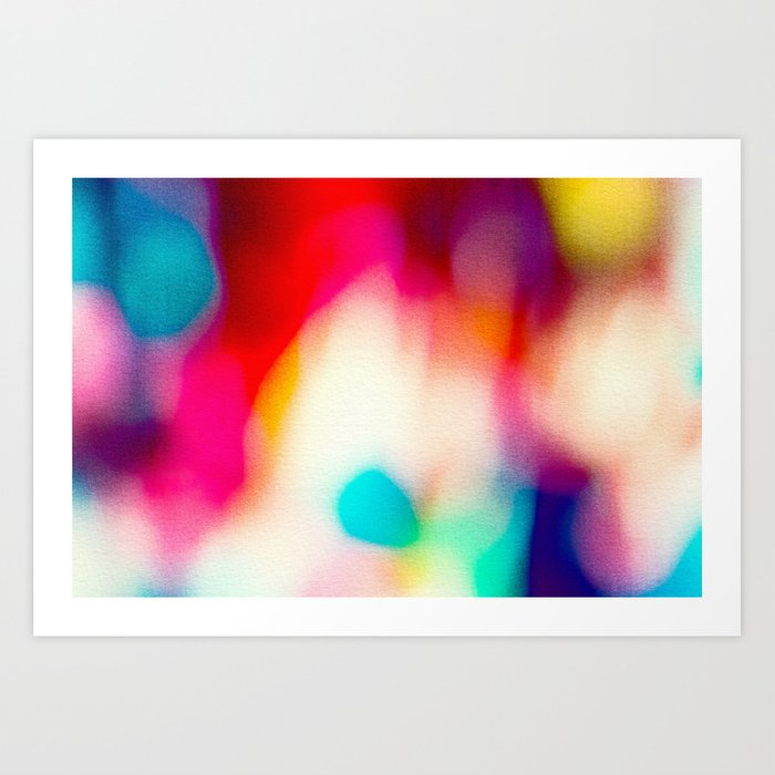 BLUR / big city lights Art Print
