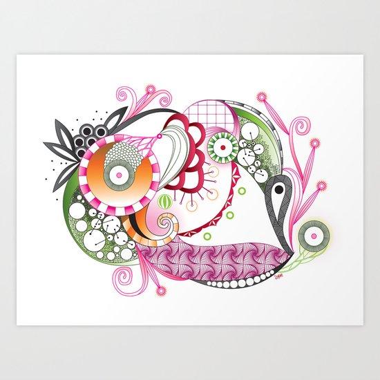 Autumn tangle Art Print