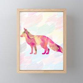Abstract Fox Framed Mini Art Print