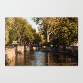 Lachine Canal Trees Canvas Print