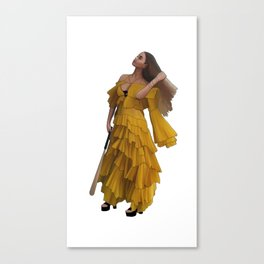 Queen Bey Hold Up digital artwork Canvas Print