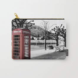 old English phone booth in colorkey Carry-All Pouch