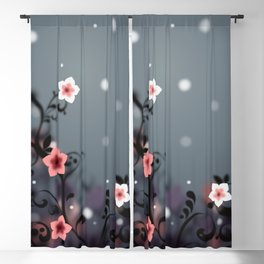 Pink and white flowers - Elegant Blackout Curtain