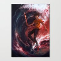percy jackson Canvas Prints featuring Dark Percy by k1216