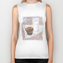 Cupcake and Milk Biker Tank
