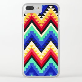 American Native Pattern No. 95 Clear iPhone Case