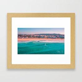 Bondi Beach, Sydney - Australia Aerial Photograph Framed Art Print