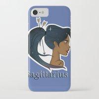 sagittarius iPhone & iPod Cases featuring Sagittarius  by Jo Sharp