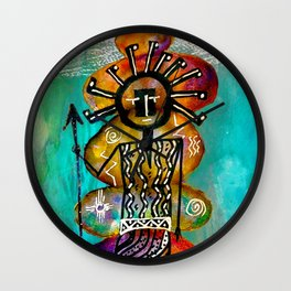 Celestial Spirit Totem-Barbara Chichester Wall Clock