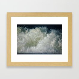 big waves, big splash Framed Art Print