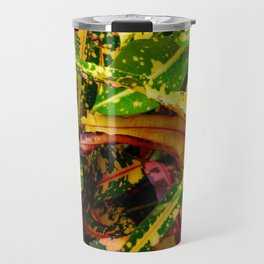Tropical Croton Plant Travel Mug