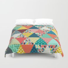 llama geo triangles Duvet Cover