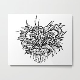 Face Flow Line Metal Print
