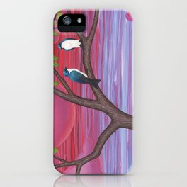 tree swallows & tulips at sunrise iPhone Case