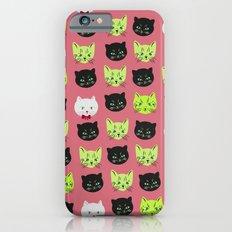 good kitty-bad kitty pattern PINK Slim Case iPhone 6s