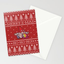 Happy and colorful Christmas with Santa Claus Stationery Cards