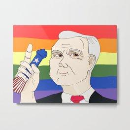 Mike Pence and his Pocket Rocket Metal Print