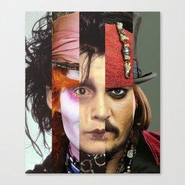 Faces Johnny Depp Canvas Print