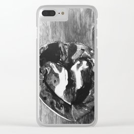My Heart Inside A Shell Clear iPhone Case