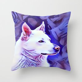 The White German Shepherd Throw Pillow
