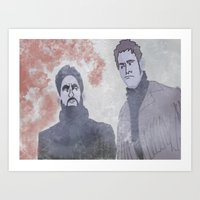 Art Print featuring Ice Men by SurrenderSodas