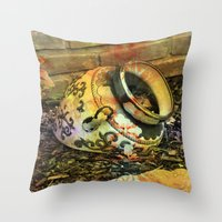 cracked Throw Pillows featuring Cracked by BeachStudio