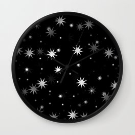 Starry Stars II Wall Clock