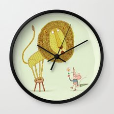 'Lion & Mouse' Wall Clock