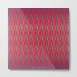 Argyle Red Shimmer Metal Print