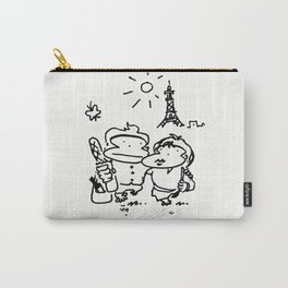 Romantic Comedy Apes in Paris Carry-All Pouch