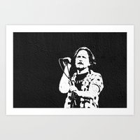eddie vedder Art Prints featuring eddie vedder by yahtz designs